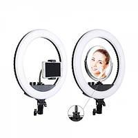"""Кольцевая LED лампа SMN-12"""" + зеркало (30см) (421-450), фото 1"""