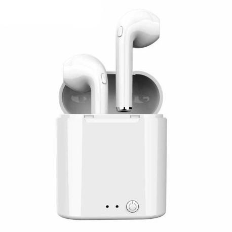 Беспроводные Bluetooth наушники HBQ i7 mini TWS Stereo с боксом для зарядки. Цвет: белый