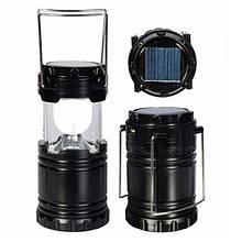 Туристический фонарь-лампа на солнечной батарее CAMPING G85 Черный
