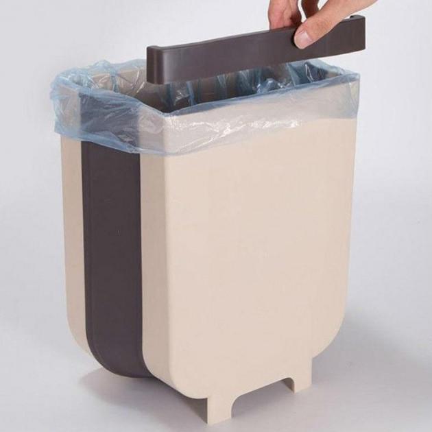 Мусорный контейнер Wet Garbage Container/Flexible Bin (складной, на двери). Цвет: белый