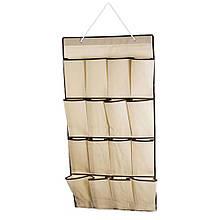 16 карман сумка для хранения обуви над дверью настенный органайзер для обуви. Цвет: черный