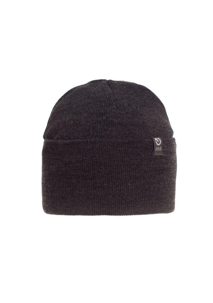 Стильная модная качественная вязаная мужская шапка.