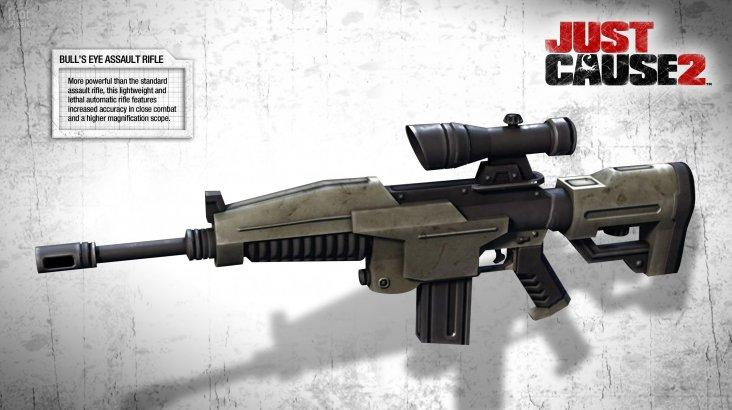 Just Cause 2: Bull's Eye Assault Rifle ключ активации ПК