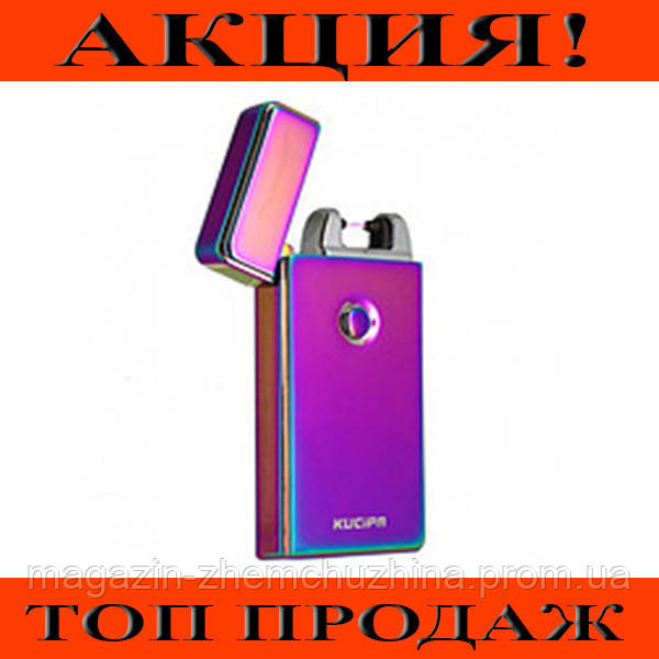 SALE! Зажигалка электроимпульсная USB 612 хамелеон!Хит цена
