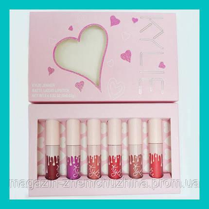 SALE! Набор матовых помад Kylie Valentine's Edition 6шт, фото 2
