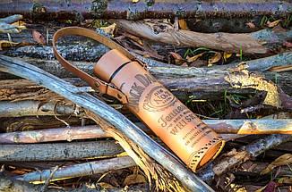 Оригинальный подарок другу - термос в чехле из натуральной кожи с гравировкой, фото 2