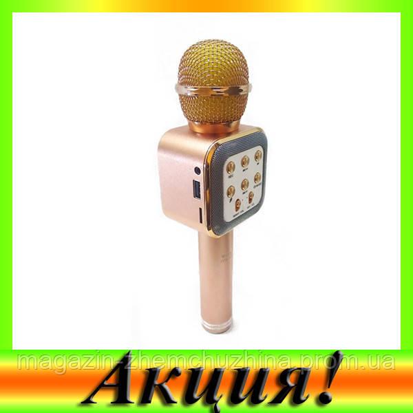 Sale! Микрофон Караоке WS-1818 ЗОЛОТО