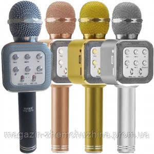 Sale! Микрофон Караоке WS-1818 ЗОЛОТО, фото 2