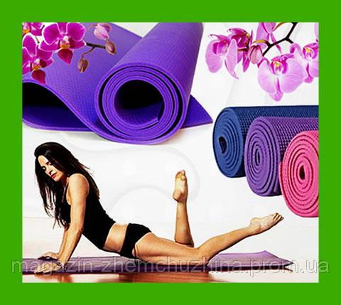 Sale! Йога- мат ― полный гламур Shock athletic mat TV. Коврик для фитнеса - РОЗОВЫЙ, фото 2