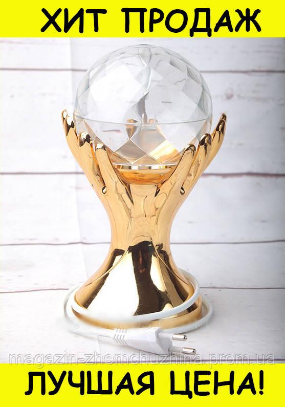 Sale! LED ДИСКО-ЛАМПА ПРОЕКТОР РУКИ С ШАРОМ LED FULL COLOR ROTATING LAMP