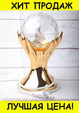 Sale! LED ДИСКО-ЛАМПА ПРОЕКТОР РУКИ С ШАРОМ LED FULL COLOR ROTATING LAMP, фото 2