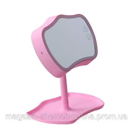 Sale! Косметическое зеркало с подсветкой 2 в 1 Mirror Lamps розовый цвет, фото 2