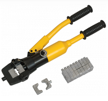 Пресс гидравлический ручной ПГРК1-300 IEK с ручным клапаном для опрессовки наконечников 16-300мм²