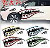 Світловідбиваюча наклейка для автомобіля акулячі зуби 2шт 37*15см