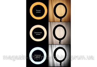 Sale! Кольцевая LED лампа LC-330 (1 крепл.тел.) USB (33см) с ТРЕНОГОЙ, фото 2