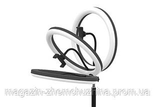 Sale! Кольцевая LED лампа LC-330 (1 крепл.тел.) USB (33см) с ТРЕНОГОЙ, фото 3