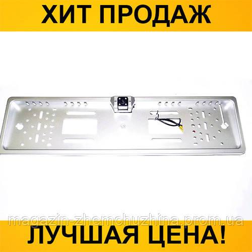 Sale! Автокамера заднего вида в рамка автомобильного номера 4088 Silver- Новинка
