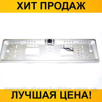 Sale! Автокамера заднего вида в рамка автомобильного номера 4088 Silver- Новинка, фото 2