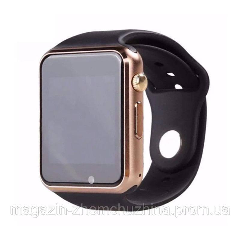 Sale! Часы наручные Smart Watch A1 Золото с коричневым ремешком