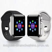 Sale! Часы наручные Smart Watch A1 Золото с коричневым ремешком, фото 3