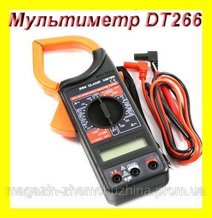 Sale! Мультиметр тестер DT 266 токовые клещи, фото 2