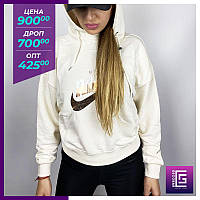 Женские свитшоты Nike бежевый. Жіночі світшоти Nike бежевий