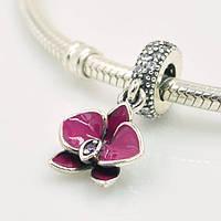 Шарм-подвеска Pandora Орхидея, Пандора серебро
