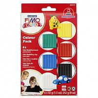 Набор полимерной глины FIMO Kids для детей Фимо, Классический, 6шт.*42г