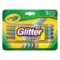 Набор для творчества Crayola Фломастеры с блестками Glitter markers 5 шт (58-8645)