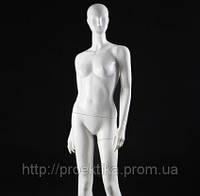 Манекен женский безликий, белый глянец, фото 1