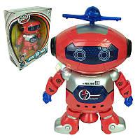 Танцующий светящийся интерактивный робот танцор Dancing Robot детская игрушка вращение 360 градусов Красный