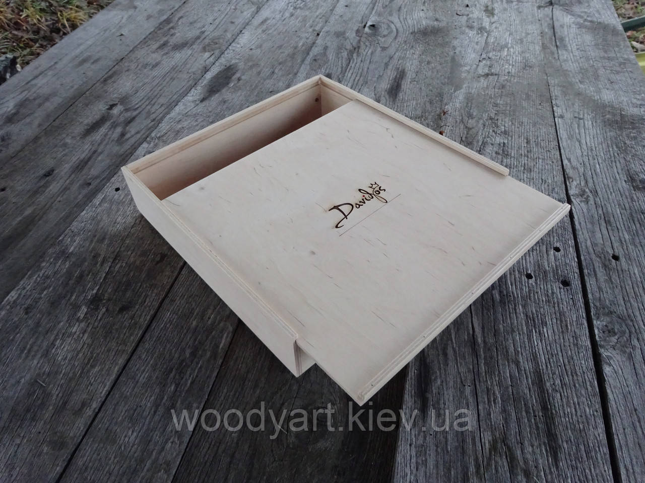Коробка из фанеры, коробка из дерева 30*30*9 см