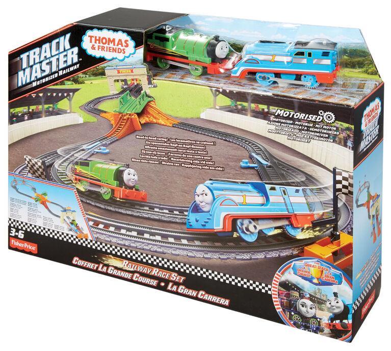 Железная дорога моторизованная гонка Томаса и Перси   Thomas & Friends TrackMaster Thomas & Percy