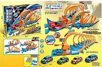 Автотрек 652 - М7-М8-М9 (12) 111 деталей, 4 машинки, свет, звук, в коробке