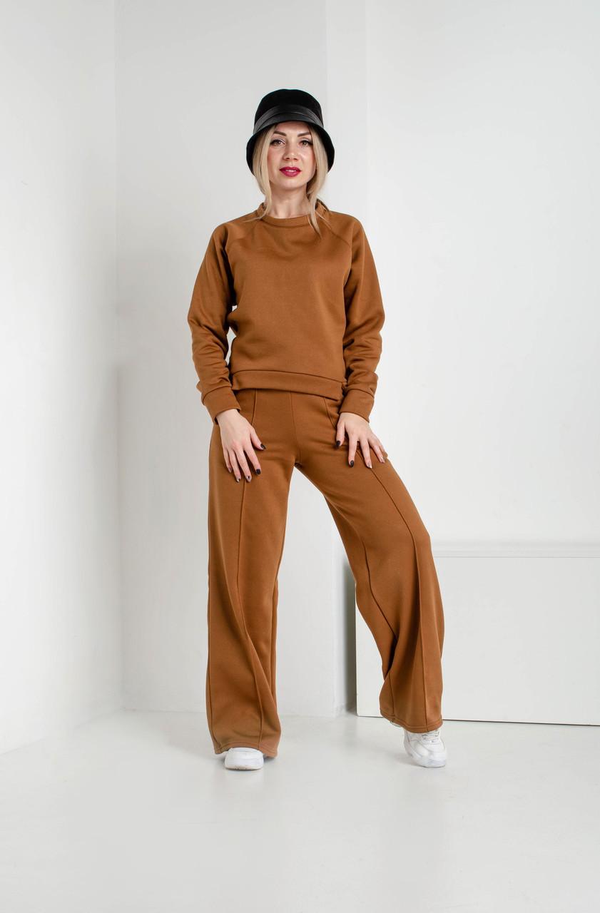 Женский спортивный костюм цвета карамель