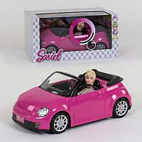 Кукла с машинкой 6633 (12/2) световые и звуковые эффекты, в коробке