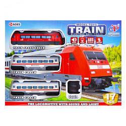 Поезд детский и железная дорога.Игрушка поезд. JHX8806