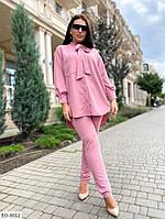 Костюм жіночий з брюками (Батал), фото 1