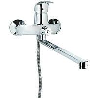 Смеситель SL Ø40 для ванны гусак прямой 350мм дивертор встроенный картриджный TAU (SL-2C243C), фото 1