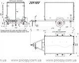 Прицеп бортовой Кияшко 25PF1105FU, фото 2