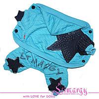 """Трикотажный комбинезон для собак Limargy """"Jeans star"""" голубой"""