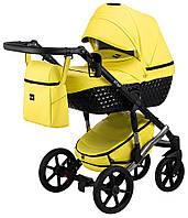 Детская универсальная коляска 2 в 1 Bair Star (Silver) кожа 100% 49S желтый