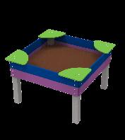 Детский Игровой стол-открытая влагостойкая песочница для детей с ограниченными возможностями Мечта 140х140х90