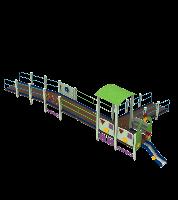 Детский Игровой комплекс Поезд для уличных площадок для детей с ограниченными возможностями 1050х460х270 см