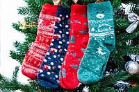 🎁 Шерстяные новогодние носки в подарочной упаковке 36-41 размер, Шугуан Happy New Year, фото 1