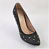 Женские Черные Туфли на Каблуке Модельные Шпилька (размеры: 37,38,39,40) - 11, фото 2