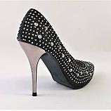 Женские Черные Туфли на Каблуке Модельные Шпилька (размеры: 37,38,39,40) - 11, фото 3
