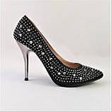 Женские Черные Туфли на Каблуке Модельные Шпилька (размеры: 37,38,39,40) - 11, фото 4