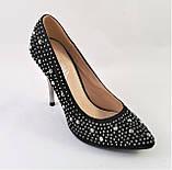Женские Черные Туфли на Каблуке Модельные Шпилька (размеры: 37,38,39,40) - 11, фото 5