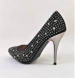 Женские Черные Туфли на Каблуке Модельные Шпилька (размеры: 37,38,39,40) - 11, фото 7